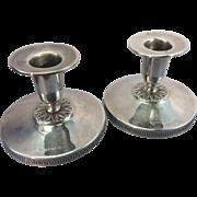 1955 Swedish Sweden Sterling Silver Modernist Candle Holders