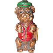 1930s Art Deco Tobacciana Figural Bulldog Dog Ronson Pub Table Lighter Striker