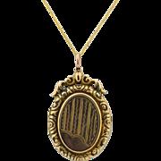 Victorian / Edwardian 9K & 14K Locket Necklace
