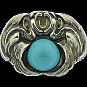 Art Nouveau Sterling Silver Gargoyle Griffin Pin ~ Brooch