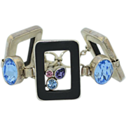 Starborn Sterling Silver Onyx Topaz Amethyst Bracelet