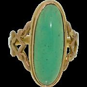 Victorian ~ Art Nouveau 14K Chrysoprase Ring
