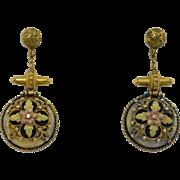 Victorian Etruscan 14K Gold Earrings