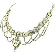 Sterling Silver Cantinelle Draping Harem Necklace