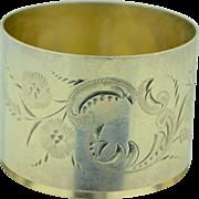 Antique Sterling Silver Napkin Ring Edwardian