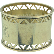 Art Deco Sterling Silver Napkin Ring