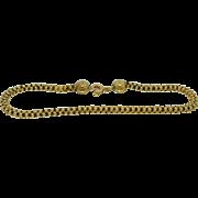 Victorian 14K Intricate Tubular Etruscan Gold Bracelet