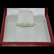 14K White Gold Enhancer Ring SZ 6
