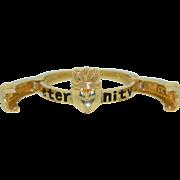 IRISH 14K Enamel & Diamond Articulated Claddagh Ring - Eternity