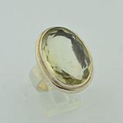 15 Carat Citrine & Sterling Silver Ring