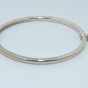 SALE PENDING Spring Hinged Sterling Silver Bracelet With Clasp