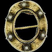 Georgian 10 Karat Gold Pin / Pendant Frame
