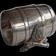 Victorian Wine Barrel and Twig Napkinring