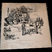 "Civil War Print ""Prickets on the Road"""