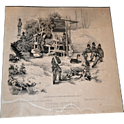 "Civil War Print ""Prickets on the Road"""