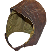 Vintage Leather Aviators Cap