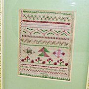 Sampler 1840's,Small Size