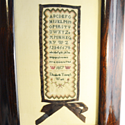 English Sampler Dated 1817 Small Size