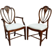 "Set of 8, 10, 12, 16 ""Hepplewhite"" Fine Dining Chair, Mahogany"