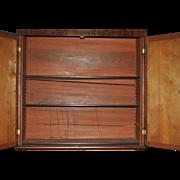 Gorgeous Antique American Empire Bookcase Secretary, Flaming Mahogany 7ft, Circa 1830