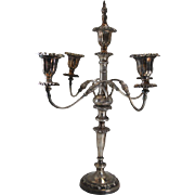 "Beautiful Antique Victorian Silver Plate 4 Arm Candelabra 22""H"