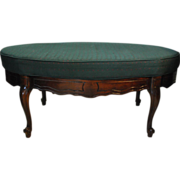 Super Nice Carved Vintage French Style Oval Bedroom Bench