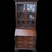 """Henkel Harris Mahogany Bookcase Secretary 6006 - 6007 81.5""""H"""
