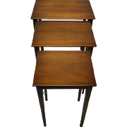 Biggs Nesting Tables, Hepplewhite Style, Fine Mahogany, Set of 3, Quality