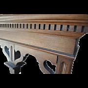 "Antique Victorian Era Solid Oak Etagere Wall Shelf Ca 1880 48""H"