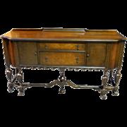 "Antique Walnut Sideboard Buffet Server, Circa 1920 72""W x 39""H"