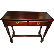 """FINE Solid Handcrafted Mahogany Console Sofa Table 38""""W"""
