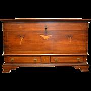 """Antique Queen Anne Blanket Chest, Pennsylvania, Circa 1741, Rare! 24""""D x 50""""W x 30""""H"""