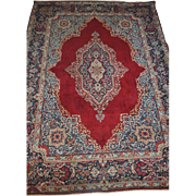 Spectacular Large Antique Hand Persian Rug Red Blue Beige Green 9.5' x 13.4'