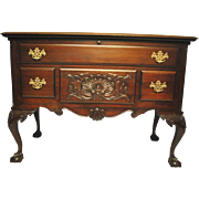 Lane Chippendale Style Mahogany Cedar Lined Blanket Chest, Ball & Claw Ft