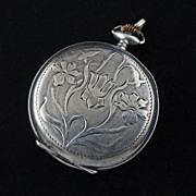 Art Nouveau Silver Watch Case 0.800 - Switzerland, 1882-1934