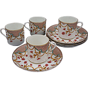 Set of Four W&B Demitasse Cups and Saucers - 1889, England