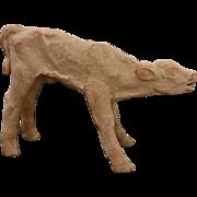 Danish Limited Edition N° 29/200 Mid Century Modern Unglazed Clay Sculpture Standing Calf ...
