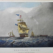 Nautical Maritime Ship Framed Engraving H. Papprill after S. Walters - England