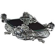 SOLD Art Nouveau  Large Pewter Centerpiece Double Handled - c. 19th/20th Century, European