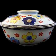 Large Japanese Arita Ware Lidded Bowl - c. 1921-1941, Japan