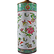SOLD Famille Rose Style Porcelain Lamp Base / Vase - 20th Century, China