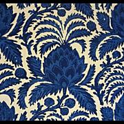 14 Yards Luxury Fabric Brunschwig & Fils Bromelia Resist Cotton Vintage Batik Style - c. 1976,