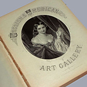 English and American Art Gallery Portfolio Book with 48 Antique Steel Engraving edited by John