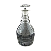 Three-Ring Anglo-Irish Georgian Style Glass Decanter - c. 19th/20th Century, Great Britain