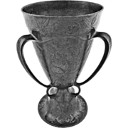 KayserZinn Pewter Loving Cup / Beer Chalice Pattern 4474 Jugendstil Art Nouveau - c. 1900's, G