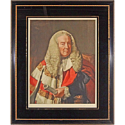 Slave Emancipation Judge Color Mezzotint William Murray, 1st Earl Of Mansfield after Copley by
