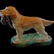 Golden Retriever Hound Dog Porcelain Figurine English Alton Pheasant - 20th Century, England