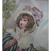 SOLD Embroidered Picture Spring Allegory Worked in Silk and Watercolor by Mabel Percivall - 19