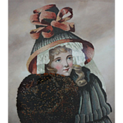 SOLD Embroidered Picture Winter Allegory Worked in Silk and Watercolor by Mabel Percivall - 19