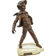 SOLD Bronze Sculpture Young Boy La Glissade / The Slide after Antoine Bofill - 20th Century, F